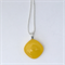Yellow Mini Fused Glass Pendant