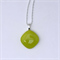 Lemongrass Mini Fused Glass Pendant