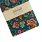 Dark Teal Floral Fabric Covered Notebook