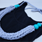 T-shirt yarn necklace, teal clay, fabric necklace, hand knitting, FREE postage