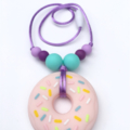 Washable Silicone Necklace for Kids - Donut