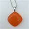 Orange Mini Fused Glass Pendant