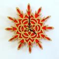 Starburst Mandala Clock
