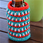 Red, Green & White Cooler/Bottle Cosy/Koozie