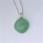 Mint Green Mini Fused Glass Pendant
