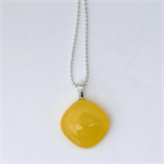 Yellow Mini Fused Glass Pendant