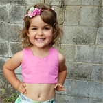 Girls Pink Crop Top, Toddler Midriff Top, Little girls top, Size 2 to 5