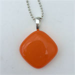 Orange Mini Fused Glass Pendant