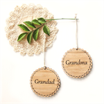 Custom Christmas 2016 decoration ornament bamboo wood personalised add name