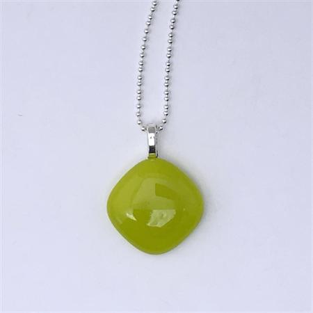 Lemongrass Mini Fused Glass Pendant