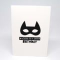 Birthday Card Boy - Monochrome Superhero Mask - HBC224