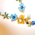 Dainty enamel and bow bracelet