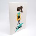 Girl's Birthday Card, Superhero Girl Card, HBC223