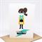 Birthday Card Girl - Superhero Girl - HBC223