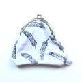 SALE Feather bird woodland tribal monochrome geometric coin purse clutch