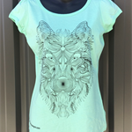 Aztec Wolf - Ladies Puff Sleeve Tee