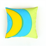 Marimekko Yellow, Blue and Lime Cushion Cover.