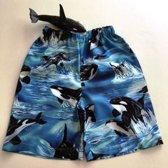 """Size 7 - """"Killer Whales""""Shorts"""