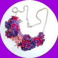 Watermelon pink and purple necklace.