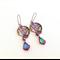 butterfly chandelier earrings, Swarovski crystal