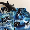 """Size 7 - """"Killer Whales"""" Shorts"""