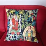 Frida Kahlo Black Cushion Cover  | 50 x 50cms | Large