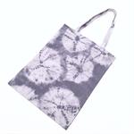Hand dyed shibori cotton tote bag - pale blue