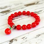 Teacher Easter Gift - Red Apple Bracelet