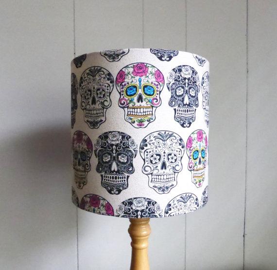 Sugar skull lampshade fabric lamp shade calavera sugar skull lampshade fabric lamp shade calavera aloadofball Gallery