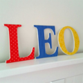 Name Plaque for Wall or Door.  12cm. 3 letters.
