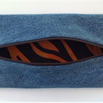 Upcycled Denim Pencil Case - Jaffa