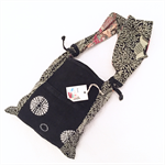 Tote bag in kimono fabric- navy shibori and navy floral cotton