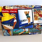 Retro sling bag, small satchel, scenic cross body bag