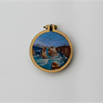 Needle Felted Mini Embroidery Hoop - 12 Apostles