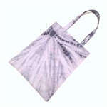 Hand dyed shibori cotton tote bag - pale blue