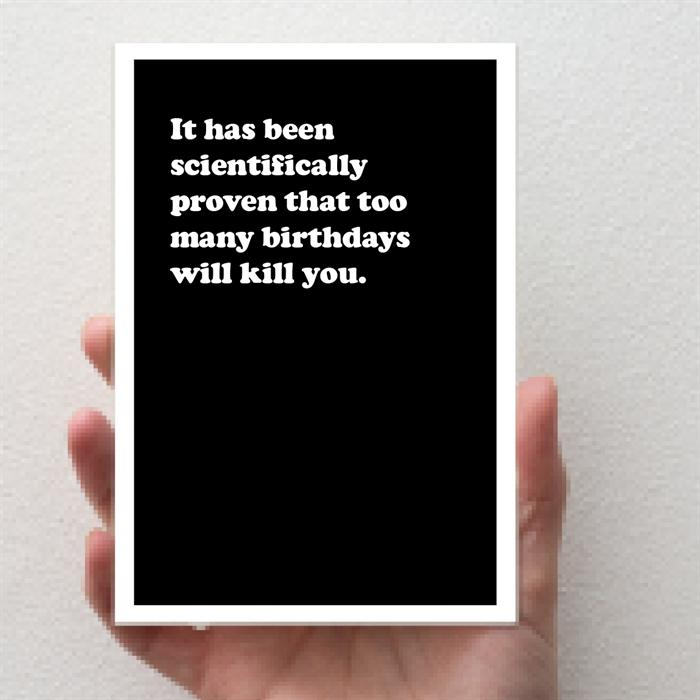 Scientific Birthday - Birthday Card