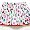 Christmas Trees Skirt with Pom Pom TrimSize 4