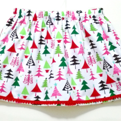 Christmas Trees Skirt with Pom Pom TrimSize 4