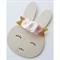 """Mia"" felt flower & nylon headband in pale pink and white"