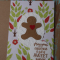 A Gingerbread Man Card Christmas Card Gingerbread Card