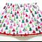 Christmas Trees Skirt with Pom Pom Trim Size 4