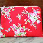 Coin Purse, Small Make up bag, Mother's Day.  Sugar Flower Fabric.
