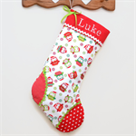 Personalised Christmas Stocking 'Tossed Owls'