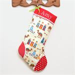 Personalised Christmas Stocking 'Nativity'