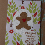 A Gingerbread Man Greeting Card ~ Christmas ~ Greeting Card ~ Ready to Post