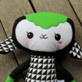 Green Geometric Lamb Softie