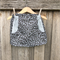 Grey leopard print skirt with contrast pockets, size 2