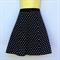 Retro Polka Dot A Line Skirt - ladies sizes avail - black, rockabilly