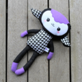 Purple Geometric Lamb Softie