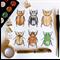 Jewel Scarab beetle collection CARD